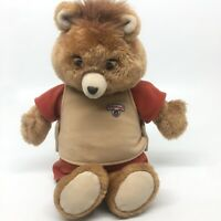Vintage Teddy Ruxpin 1985 World Of Wonder Toy - Tape & Eyes Work- Mouth Doesn't