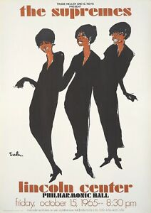 """Reproduction Motown """"The Supremes, Lincoln Center"""" Poster"""