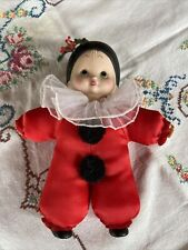 RARE 1984 Ruth Morehead French Pierrot Clown Doll 7 in Baby Enesco Tag Sticker