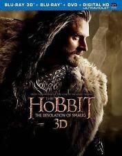 The Hobbit Desolation of Smaug 5-Disc 3D Blu-Ray+Blu-ray+DVD+Digital HD UV - NEW