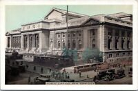 Public Library Lumitone 5th Avenue 1930s New York City Postcard