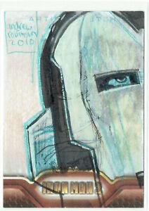 Iron Man 2 Movie Upper Deck 2010 Sketch Card 1/1 Artist Andrew Robinson Puzzle?