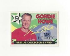 1971-72 O-Pee-Chee Hockey Gordie Howe Special Collectors Card #262