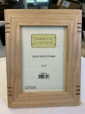 "5"" x 7"" Solid  Wood Light Tan Picture Frame Innsbrook Collection"