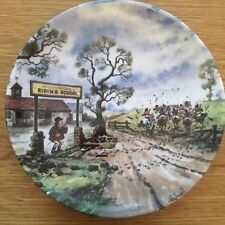 THELWELL PONY PLATE DANBURY MINT WILLOWBROOK RIDING SCHOOL PERFECT