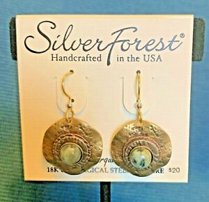 Silver Forest Earrings - Turquoise - 18k Bonded French Earwire - NEW w tags