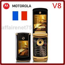 Téléphone Portable Motorola Razr 2 V8 Quadri Bande Gold