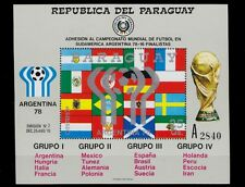 1978 ARGENTINA FIFA WORLD CUP SOCCER ON PARAGUAY S.S. MNH FLAGS CUPE SCT.C460