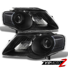 2006-2010 Volkswagen VW Passat Black [EURO STYLE] Front Headlights Lamp Assembly