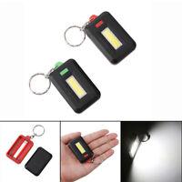 Mini LED COB Flashlight Waterproof Portable Keychain Torch Light Camping Lamp HC