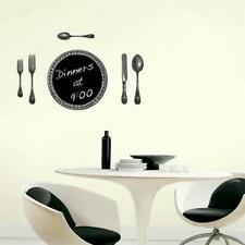 Chalkboard Cutlery set Wall Sticker Removable Kitchen Wall Decal Mural Dinning