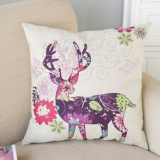"""Colourful Deer Cushion Cover, New, Large 17x17"""""""