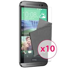 Films de protection Ultra Clear HD HTC One M8 HD Lot de 10
