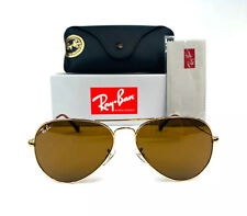 Ray-Ban Aviator Brown Classic G-15 Men's Sunglasses RB3025 001/33 58-14