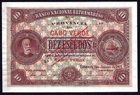 CAPE VERDE 10 escudos  10$00  1921 P-35  SPECIMEN   aUNC