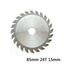 85mm 24 T 15mm Bohrung TCT Kreissägeblatt Disc für Makita 5093D Rockwell Bosch