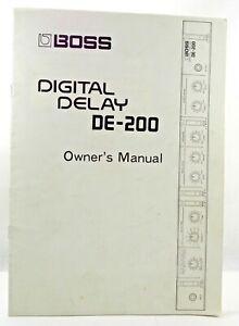 BOSS DE 200 DIGITAL DELAY Vtg 1983 Original Factory Owners Manual 11 Pgs  Specs