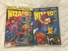 Lot Of 2 1993 Wizard Magazines SEALED! #27 & 28 Simpsons Cover!