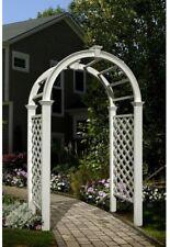 "White Arched Garden Arbor ~ Wedding Bridal Archway ~ Outdoor Vinyl ~ 91"" x 49"""