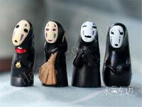 4PCS/Set Spirited Away No Face Man PVC Figure Jouet Enfants Cadeau Model