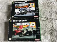 F-1 World Grand Prix 1 & II (2) / CIB Bundle / Nintendo 64 / N64 PAL