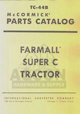 FARMALL SUPER C Tractor Parts Catalog Manual