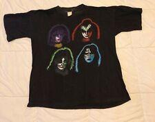 Vintage - Kiss - Ace, Gene, Paul, Peter 1980s T Shirt- Single Stitch- SizeXl