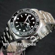 40mm Parnis luminous Sapphire glass Ceramic bezel GMT automatic mens watch P119