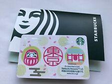 New 2020 Japan Starbucks Daruma Card - Pin Intact