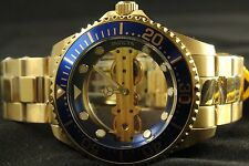 Invicta Pro Diver Ghost Bridge 47mm Gold Plated Steel Mechanical Blue Watch