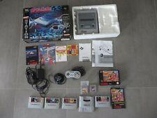 Super Nintendo SNES 1-Chip Konsole + 6 Spiele: Terranigma Street Fighter + OVP