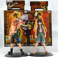 Anime One Piece Dx Figure The Grandline Men Vol.1 Luffy Ace Figuart 2PCS Toy Set