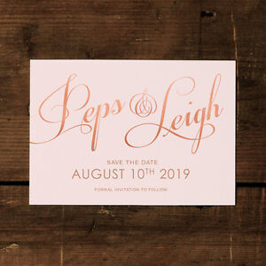 Elegant Classic  Wedding Save the Date or Save the Evening - Calligraphy Script