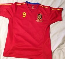 2010 Spain ESPAñA Sudafrica Fernando Torres Home Jersey - Size 12