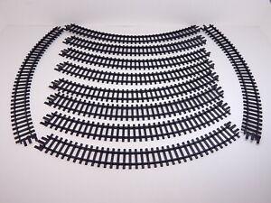 "ATT 10 Pieces Curved Tracks 12-3/4""L, Vintage 1950s HO Gauge, West Germany NICE!"