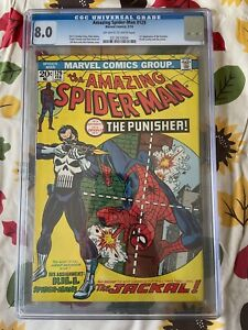 Amazing Spider-Man #129 CGC 8.0 OW/W 1st Punisher