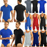 Sexy Men Bodysuit Singlet Tight Jumpsuit Underwear Leotard Gym Fitness T-shirt