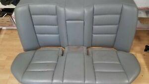 Mercedes 124 rear Grey Leather seat skins 300E E320 400E E420 90-95 upper lower