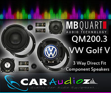MB Quart QM200.3 VW Golf V Custom Upgrade Per Casse Componente Kit 3 vie 20.3cm