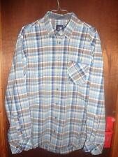 JUPITER Taille L 41/42 chemise été homme marron beige bleu décontracté casual
