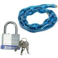 STEEL SECURITY CHAIN 600MM & PADLOCK FOR BIKE MOTORBIKE CYCLE GATE