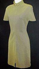 MOXY retro USA olive green stripe high neck stretch dress modcloth minimalist M