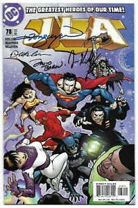 JLA 78 Signed by 4 DC Justice League Wonder Woman Superman Green Lantern Batman