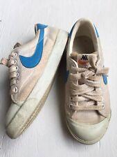 Vintage 1979â—† Nike All Court Tennis Shoes â—† Canvas White/Blueâ—† Blazerâ—† 70s Rare