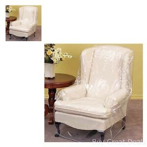 Furniture Protector Armchair Heavy Duty Clear Vinyl Cover Keeping Furniture