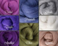 ORCHID Palette Wool Roving Fiber 2 ozs / 56 grams Needle Felting Spinning Soap