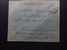 Cover Deutschland Kriegsgefangenen Sendung POW Gepruft Zensur Lamsdorf 1916