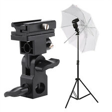 Flash Hot Shoe Umbrella Holder for Studio Light Stand Bracket Flash Accessories