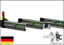 3x Turnigy nano-tech 600mah 1S 35~70C NEU Lipo Akku 3,7V Blade 120 SR MQX