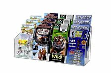 Three Tier 12 Pocket Wall Mount or Countertop Brochure Holder for Trifold Litera